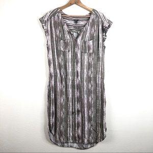 🌿 Eddie Bauer Purple Gray Casual Dress Soft